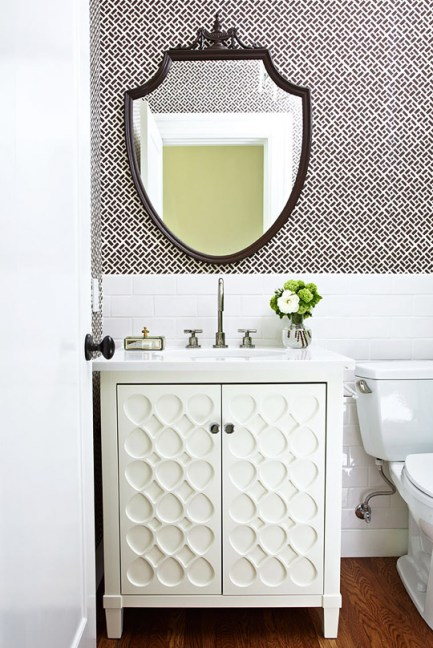 powder room, black & white
