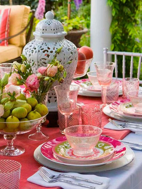 diy outdoor summer table setting