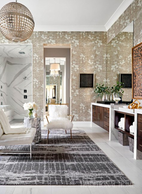 wallpaper, master bathroom