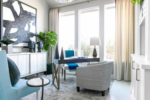 Home Office Space, HGTV Smart Home 2019, Home Office, Sherwin-Williams, Repose Gray
