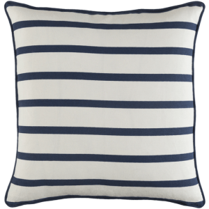 Vinyasa, Slim Stripe Pillow, Navy & White