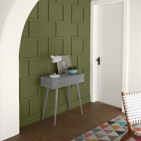 Behr Paint, Foyer, White, Green