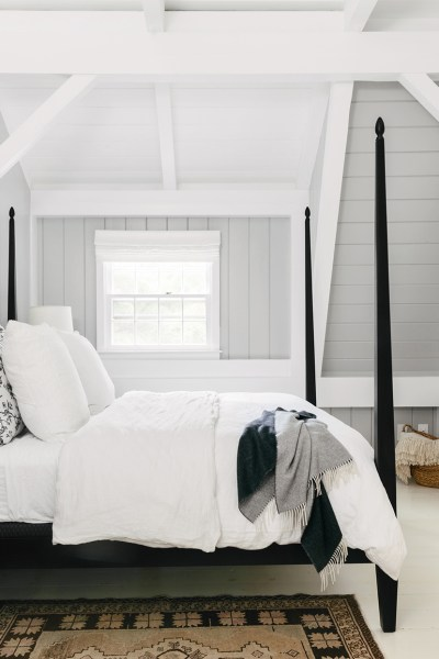 Bedroom, Farrow & Ball: Pavilion Gray