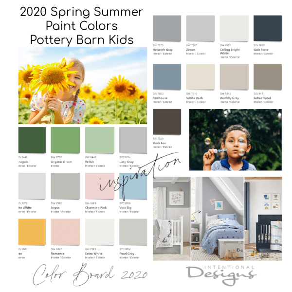 2020 Spring Summer Paint Colors Pottery Barn Kids