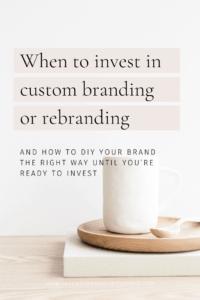 Custom branding or rebranding