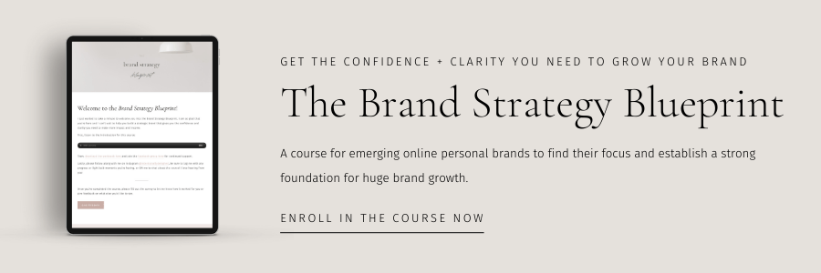 The brand strategy blueprint course