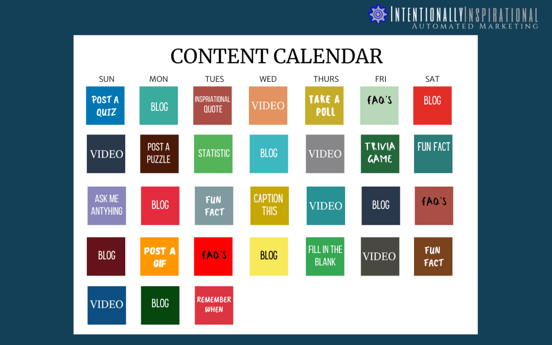 Content Calendar Ideas to Fill Out Your Month
