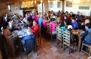 Communal dinner at Orisson Alb
