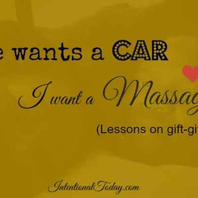 He Wants A Car And I Want A Massage