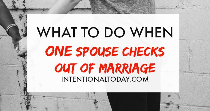 What to do when your spouse won't change