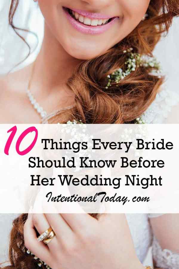 10 things every bride should know before hee wedding night
