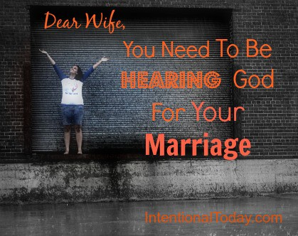 Why you need to be hearing God for your marriage