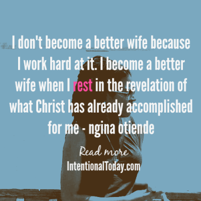Understnading my identity in Christ...as a wife
