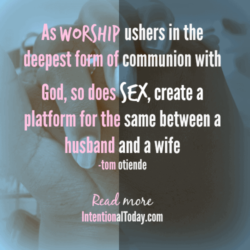 sex and worship, the connection
