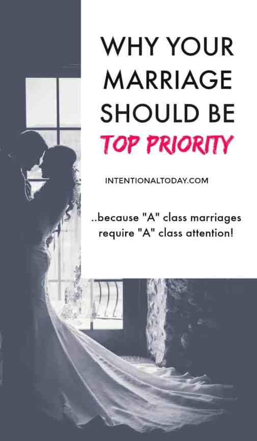 Priority - the unpopular gospel of putting your marriage first