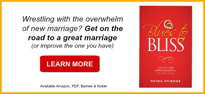 Wrestling with the overwhelm of new marriage? Get on the road to change - Blues to Bliss book