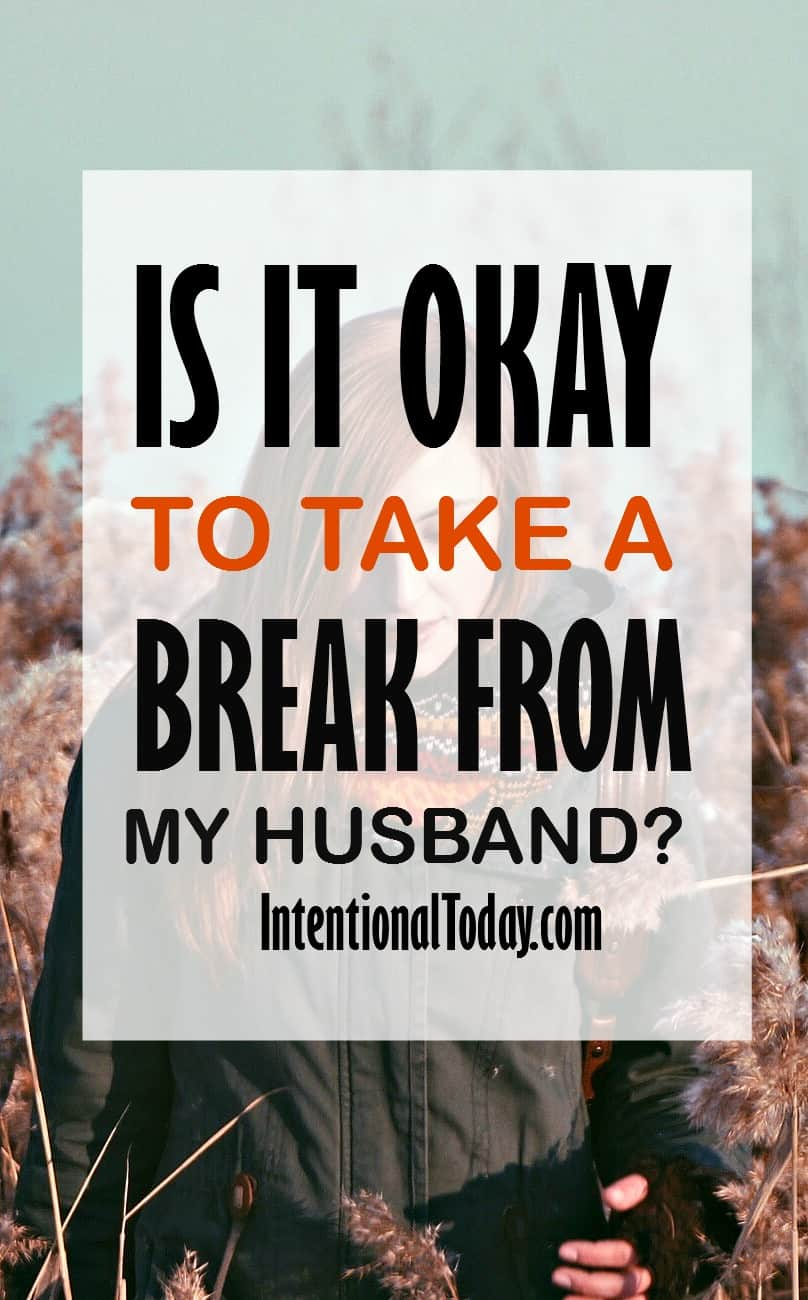 Taking a break from marriage while living together