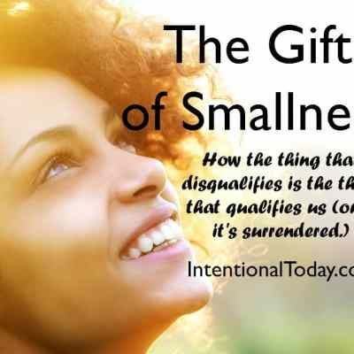 The Gift Of Smallness