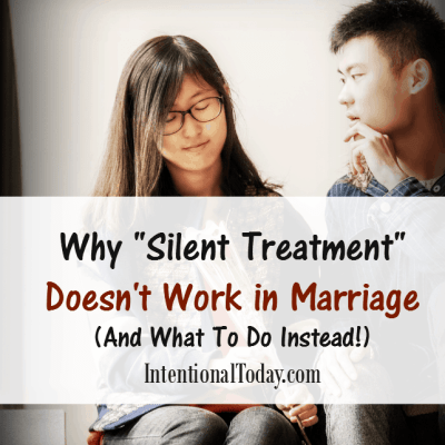 Silent Treatment: Why it Doesn't Work in Marriage