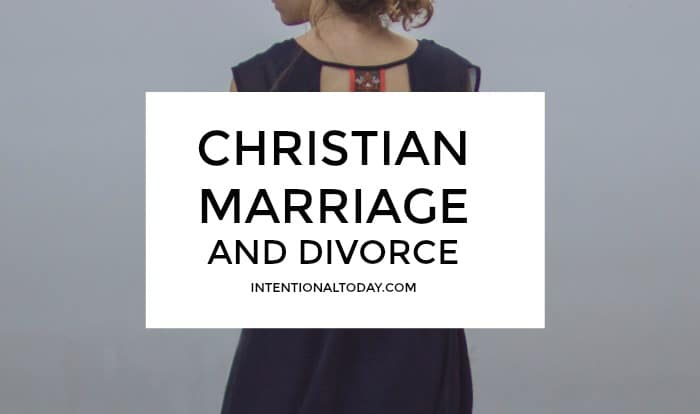Christian marriage and divorce - what happens when a newlywed wife feels she has done enough to save her marriage? Is divorce an option? A few thoughts