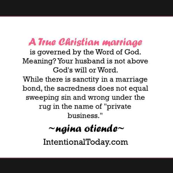 What Christian marriage is all about