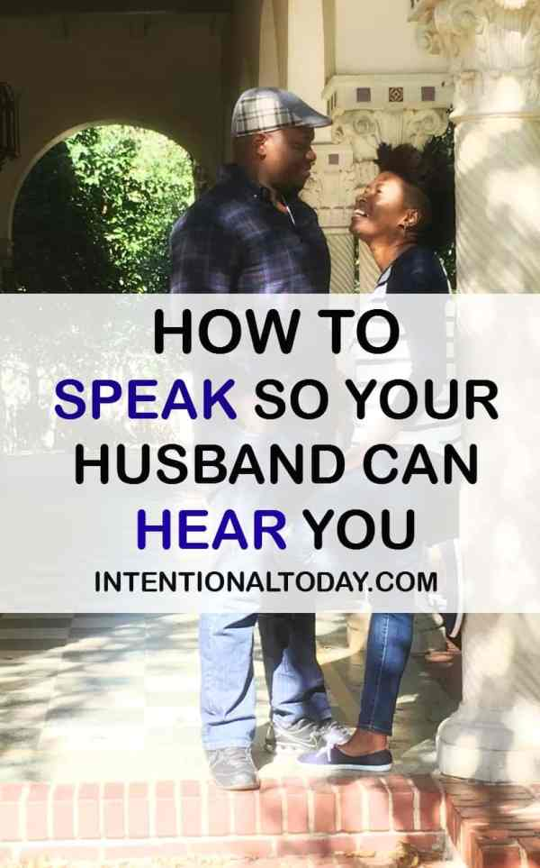 How to speak so your husband can hear you