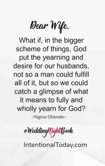 Wedding night book - yearning for more