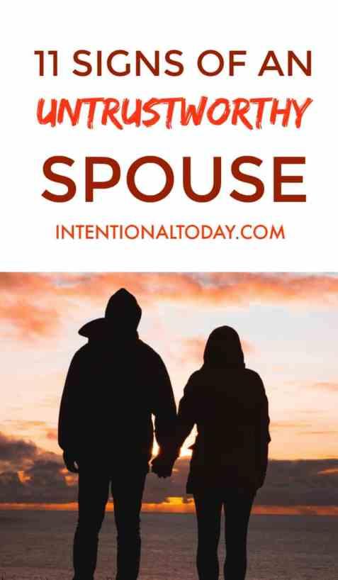 11 signs of an untrustworthy husband