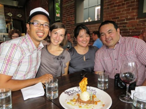 Spending time with brother and sister-and-law in Portland