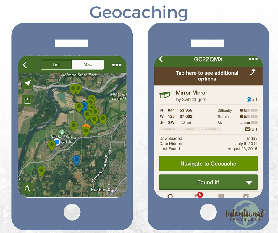 Geocaching | Our Favorite Apps for Better Travel | Intentional Travelers
