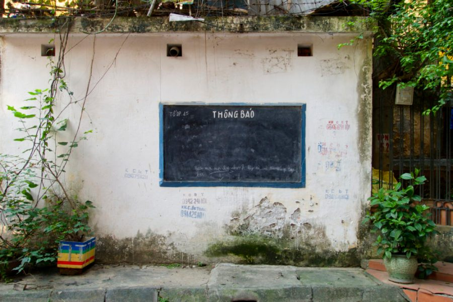 Intentional-Travelers-Hanoi-Street-Announcement-Board
