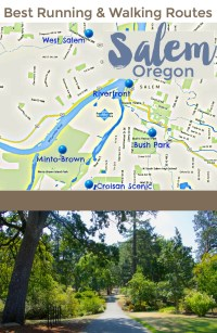 Nice places to run or walk in Salem, Oregon