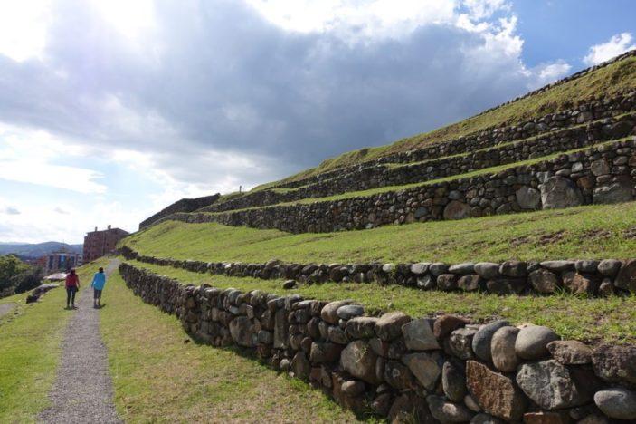 Walking through local ruins