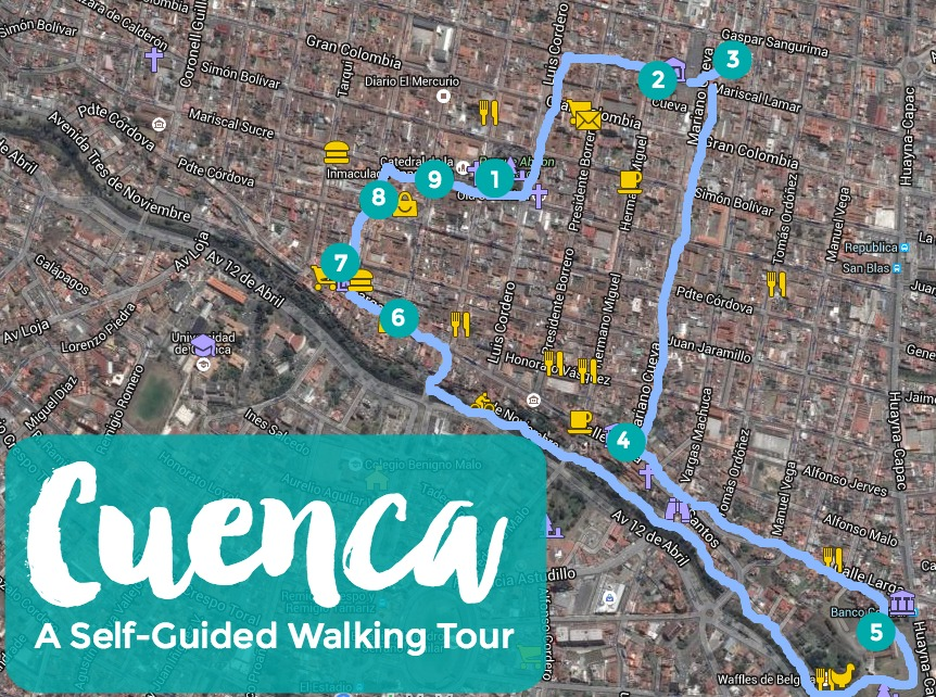 Cuenca Ecuador Map What to See and Do in Cuenca, Ecuador (Plus Walking Tour Map