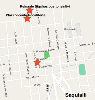 Map | Saquisili to Isinlivi bus
