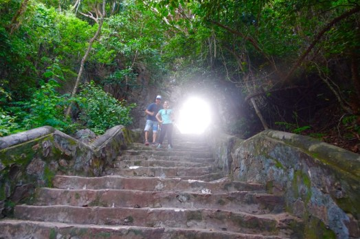 Marble Mountain stairs and light