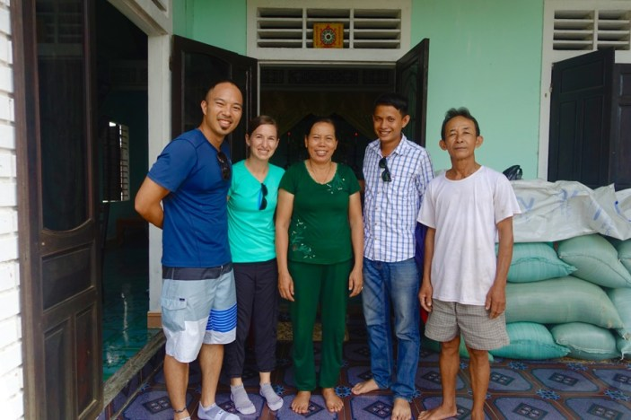 Meeting Phu's parents at their family home