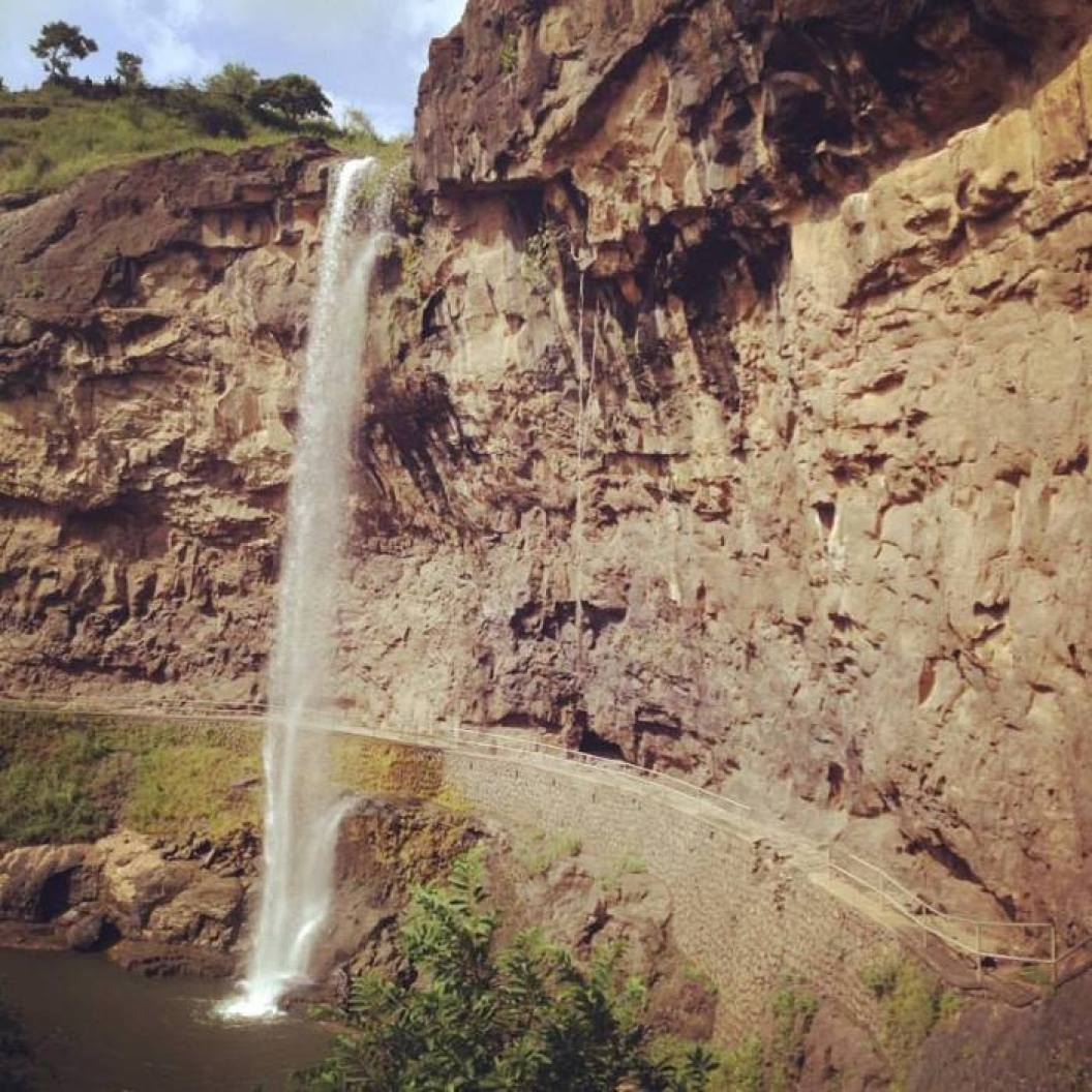 Waterfall at Ellora Caves Photo Credit: Adam Greenberg