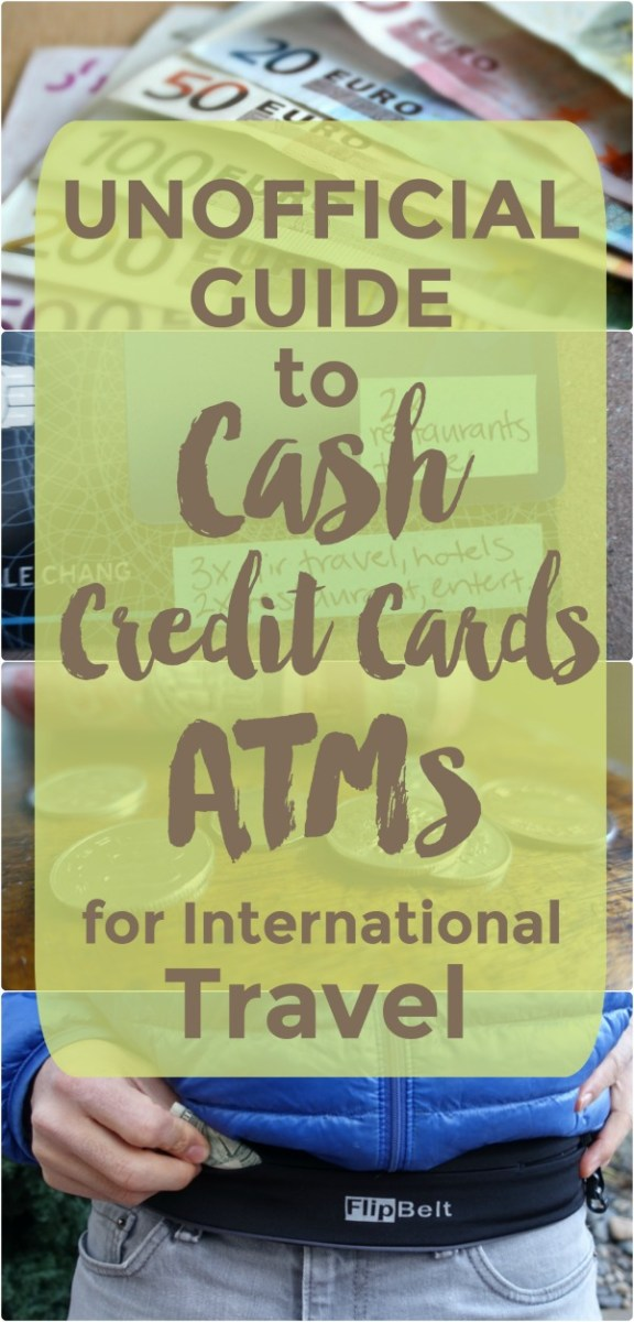 Travel tips for cash, foreign currency, credit cards, and ATMS