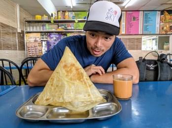 Georgetown Penang food - roti tisu
