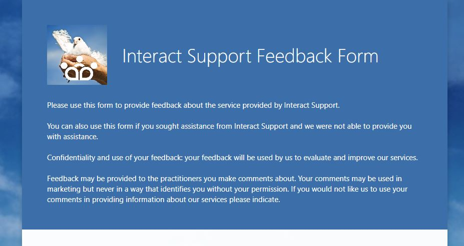 Intract Support Feedback Form