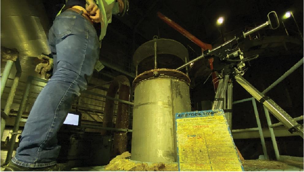 Zenith inside Coal Silo