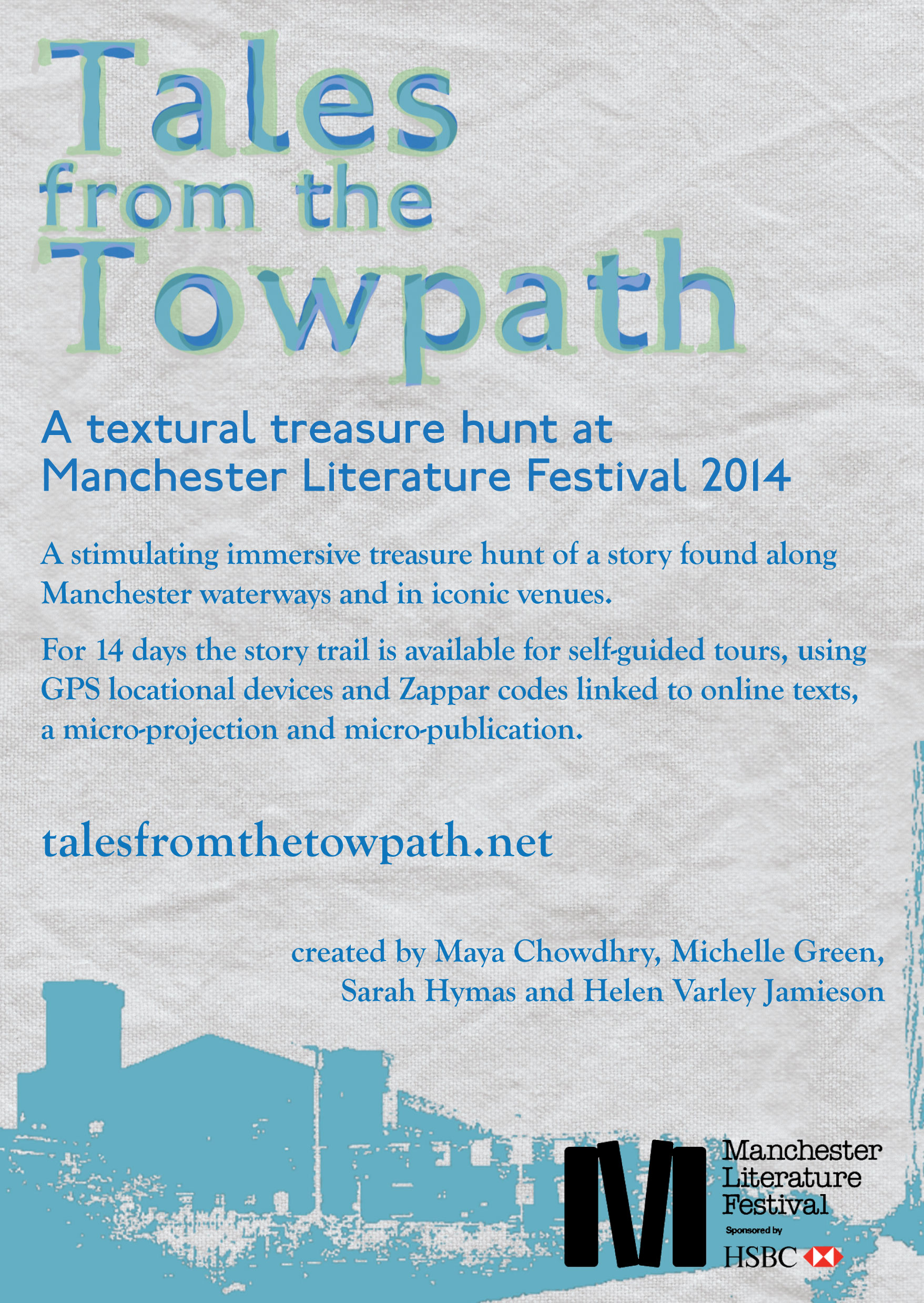 Tales from the Towpath at Manchester Literature Festival