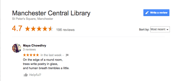 manchester central library google review