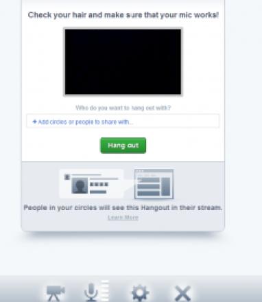 Google Plus Hangout functionality