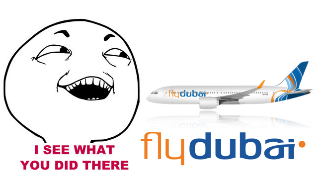 I see what you did there flydubai