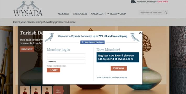wysada register page