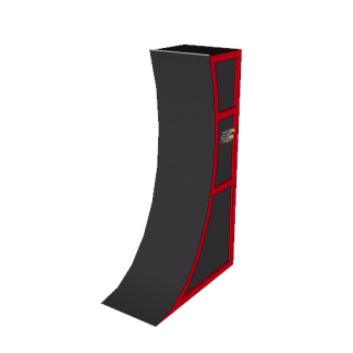NW-WW-14P@14ft_Premium_warped_wall_Painted_Rubber_Ramp@8.500×14.000×4.000