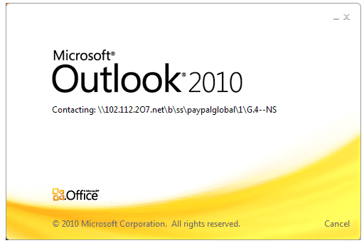 Outlook Hangs (stops responding) Opening Email Messages Sent