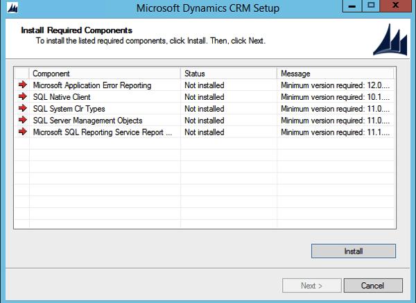 CRM 2015 Install Process